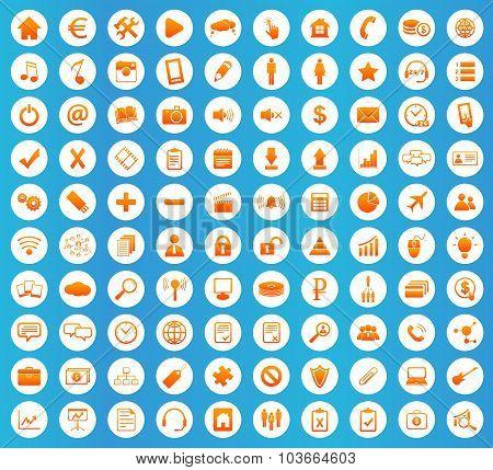 Webdesign icons round set