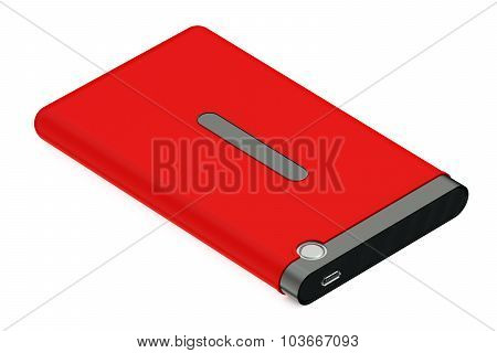 Red External Hdd With Cable