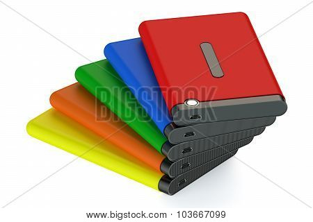 Set Of Colored External Hdd