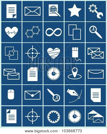 Vector icons set business and science