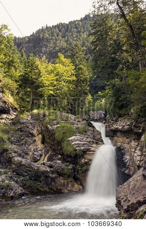 Kuhflucht Waterfalls Near Garmisch, Bavaria