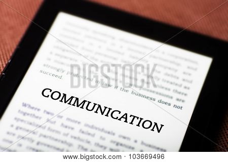 Communication Concept On Tablet Ebook