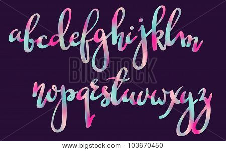 Handwritten Brush Pen Colorful Font