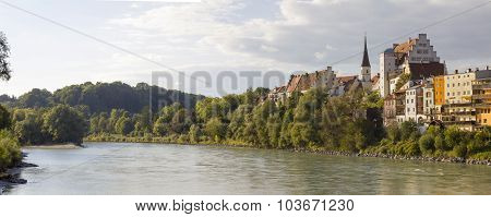 River Inn And Old Town Wasserburg, Upper Bavaria