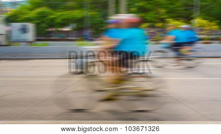A Racing Bike Rider's Slow Speed Shutter