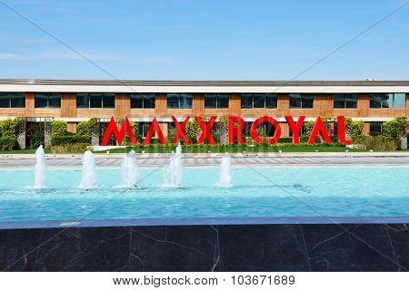 Antalya, Turkey - April 21: The Entrance Of Maxx Royal Luxury Hotel On April 21, 2014 In Antalya, Tu