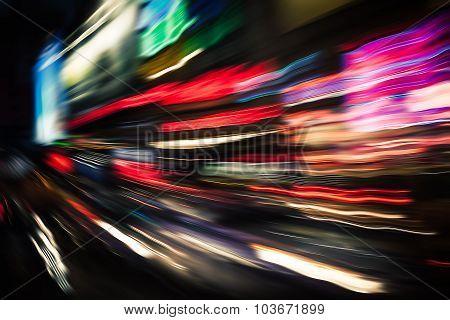 Illumination And Night Lights In Big City
