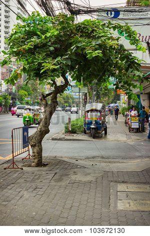Ordinary Street On The Outskirts Of Bangkok