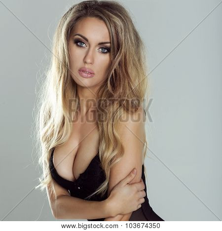 Beauty Portrait Of Sexy Blonde Woman.