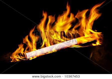 Cigarette In Fire