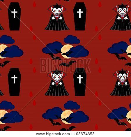 Vampire Seamless Pattern 2