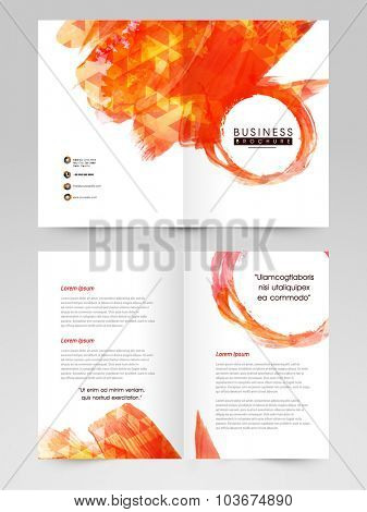 Abstract Business Brochure, Template or Flyer design with front and back side presentation.