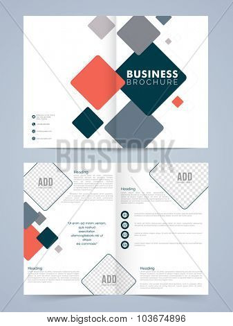 Professional stylish Two page Business Brochure, Flyer or Template with front and inner presentation.