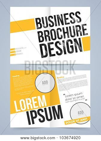 Stylish Two page Business Brochure, Template, Flyer or Banner with space for your images.