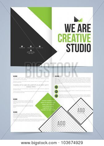 Creative Two page Business Brochure, Flyer, Banner or Template with front and back presentation.