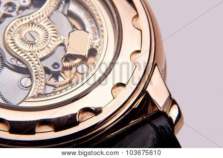 Luxury watch, closeup