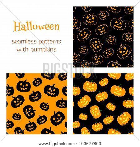 3 Patterns With Pumpkins