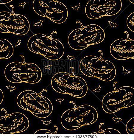 Black Pumpkins Pattern