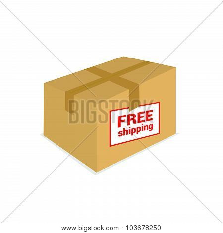 Free Shipping On The Box Vector