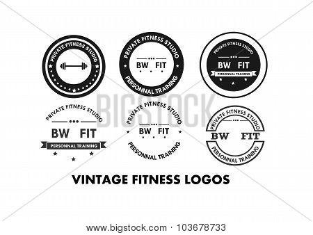 Fitness gym logo and emblems