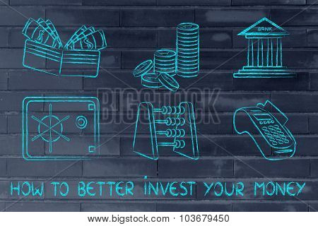 Money-related Objects, Investing And Saving
