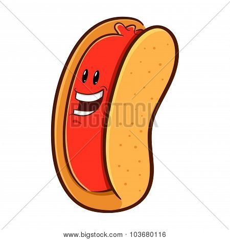 Hotdog Character Mascot