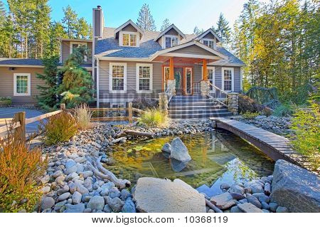 Country home in a forest