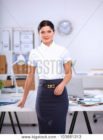 Portrait of a beautiful businesswoman standing in the office