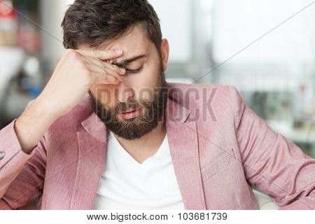 Sad Handsome Man