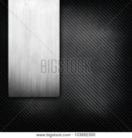 metal template with striped pattern