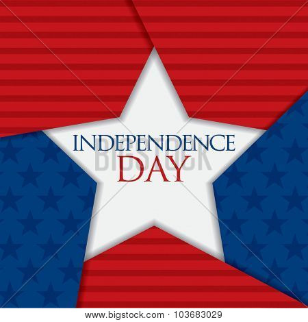Overlapping Star Independence Day Card In Vector Format.