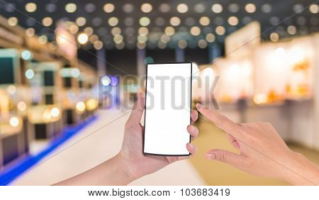 Blurred Image Of Shopping Mall And People