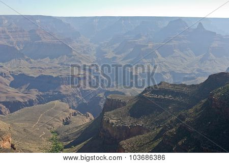 Grand Canyon National Park Overlooking A River Of Green