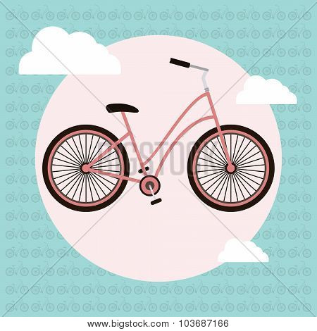 Bicycle Vector Greeting Card