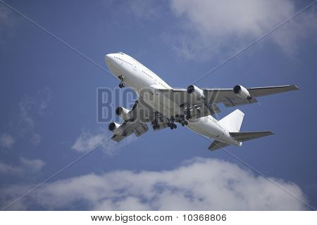 Boeing 747 Airliner On Final Approach