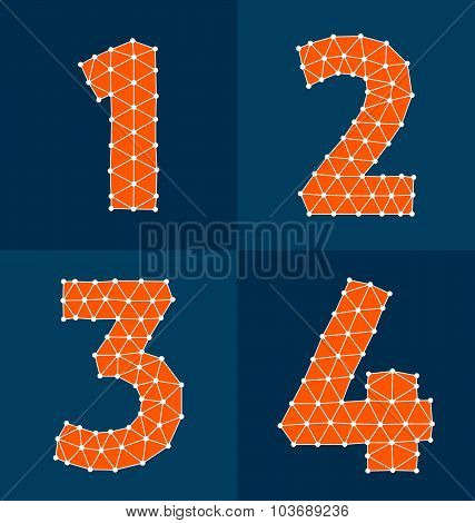Orange Polygonal Numbers 1-4