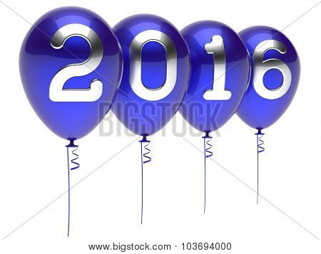 New Years Eve 2016 Balloons Wintertime Party Decoration Blue