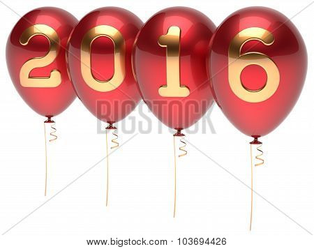 2016 New Years Eve Balloons Party Decoration Red Golden