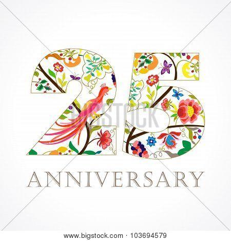 25 anniversary ethnic numbers