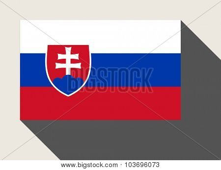 Slovakia flag in flat web design style.