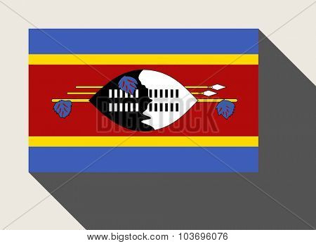 Swaziland flag in flat web design style.