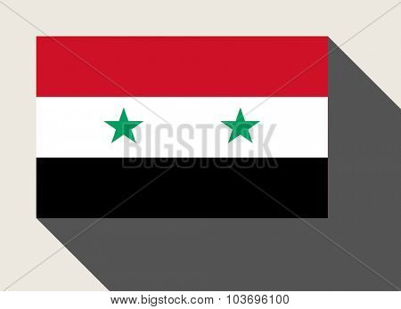 Syria flag in flat web design style.
