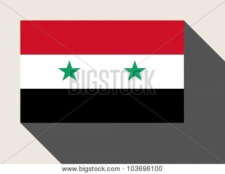 Syria flag in flat web design style.