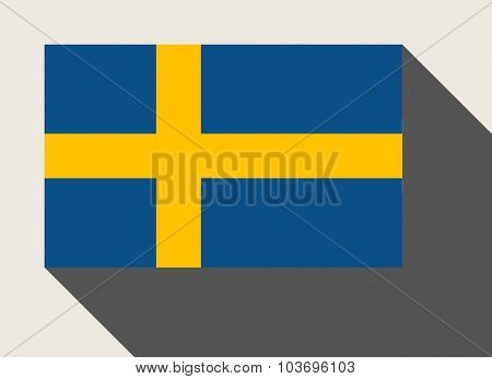 Sweden flag in flat web design style.