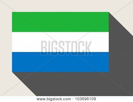 Sierra Leone flag in flat web design style.