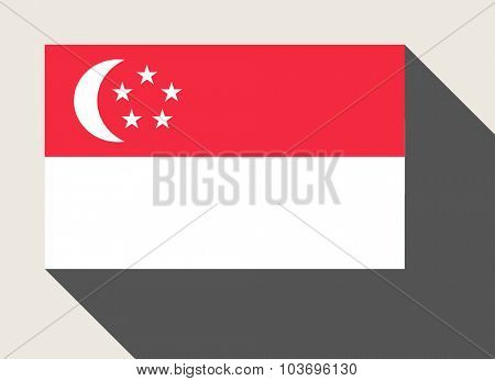 Singapore flag in flat web design style.
