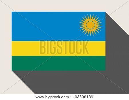 Rwanda flag in flat web design style.