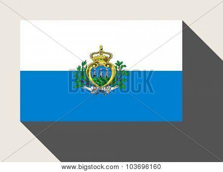 San Marino flag in flat web design style.