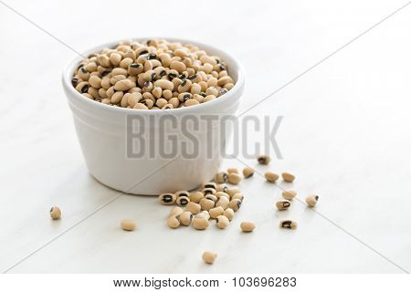 uncooked beans in bowl on kitchen table