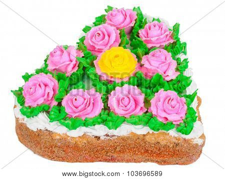 Cake with roses